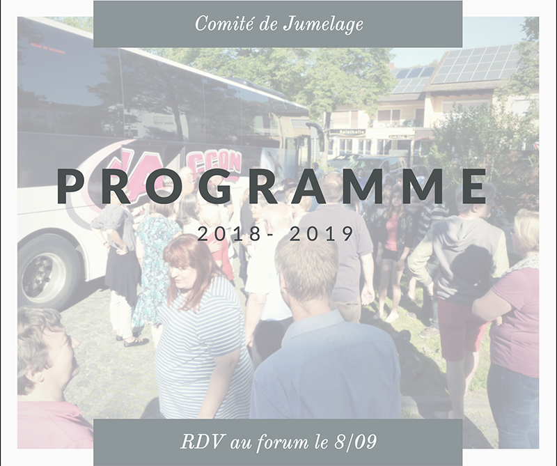 Programme 2018 -2019 & Forum des associations