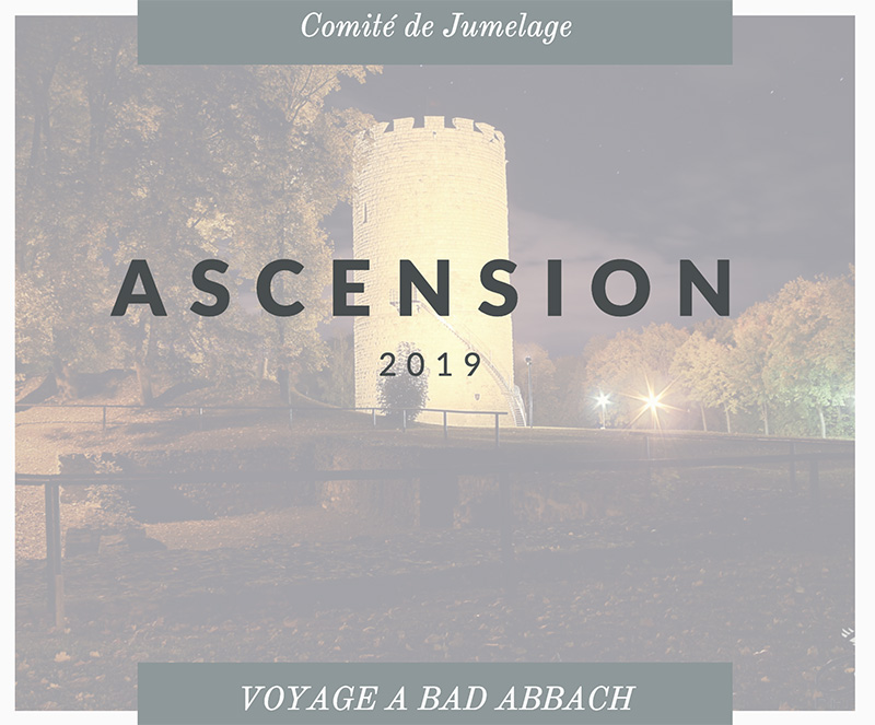 Ascension 2019 – Inscriptions